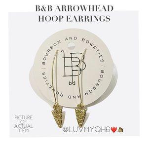 B&B ARROWHEAD HOOP EARRINGS